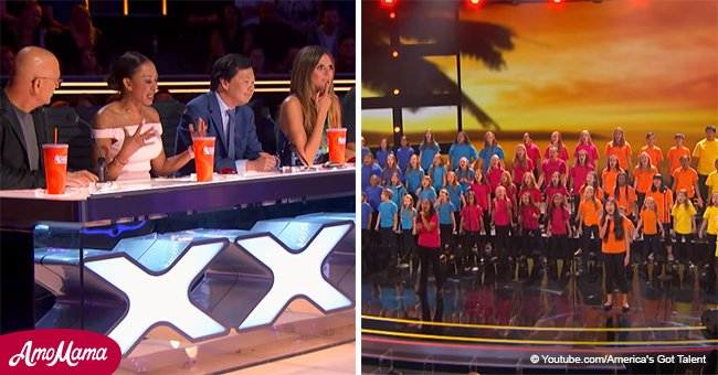 70 kids took to the stage and their magnificent voices forced judges to hit the 'Golden Buzzer'