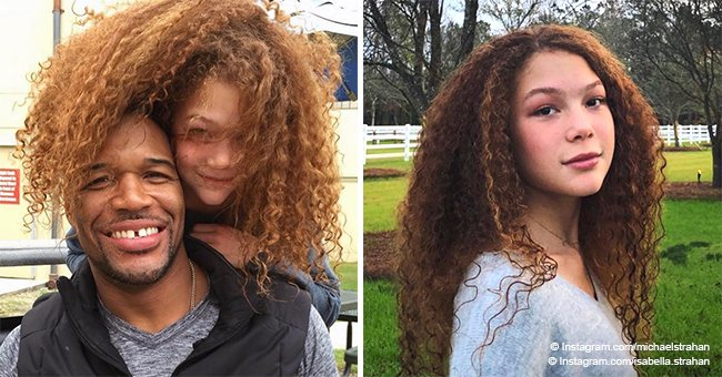 Michael Strahan is a proud dad as his daughter shows off her long curly hair in picture