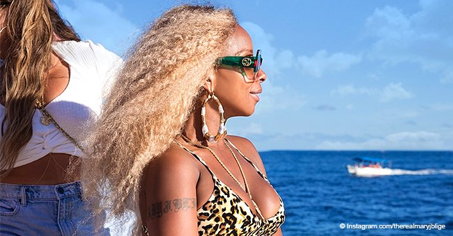 Mary J. Blige turns up the heat in leopard-print bikini in honor of her 48th birthday