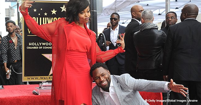 Taraji P. Henson's fiancé proudly poses by her side as she receives star on Hollywood Walk of Fame