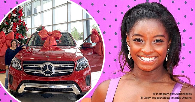 Simone Biles gets dragged for buying her mom an expensive red car for Christmas
