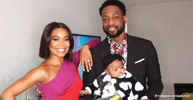 Gabrielle Union and Dwyane Wade flash wide smiles with