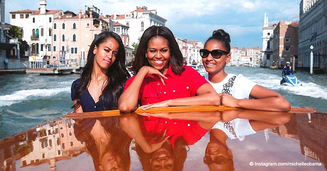 Michelle Obama Shares Photo with Her Grown Daughters on Venice Vacation