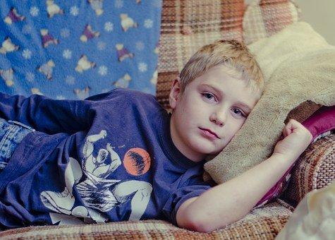 Niño enfermo / Imagen tomada de: Pixabay