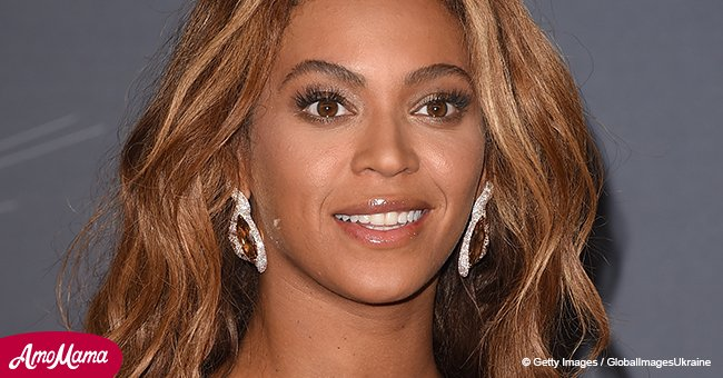 Beyoncé shows off her gorgeous cleavage in plunging dress in recently shared photo