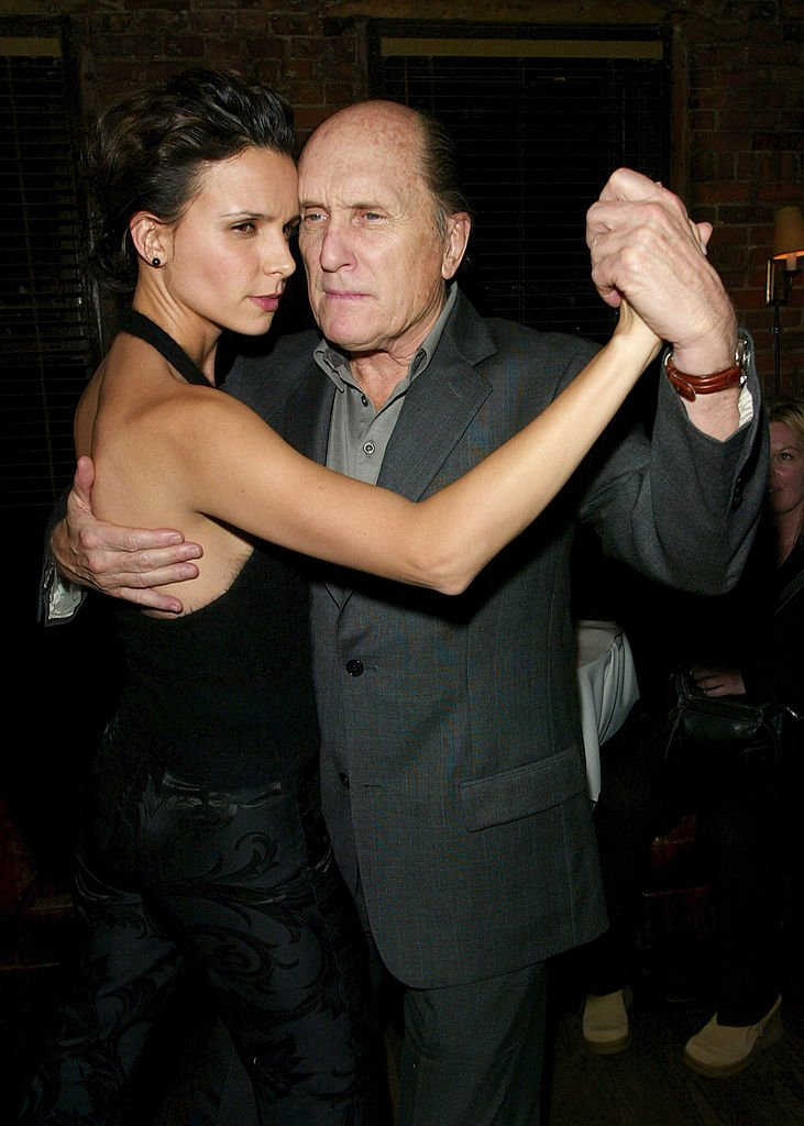 "RObert Duvall and Luciana Pedraza dance the tango at the ""Assassination Tango"" premiere. 