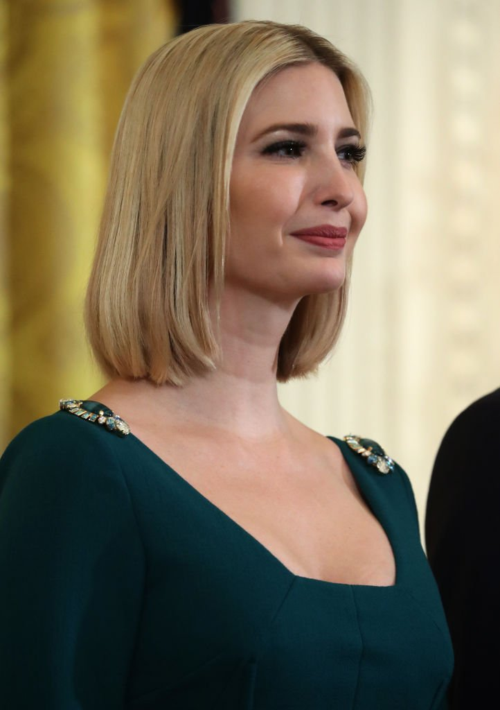 White House senior advisor Ivanka Trump attends a Hanukkah Reception in the East Room of the White House | Photo: Getty Images