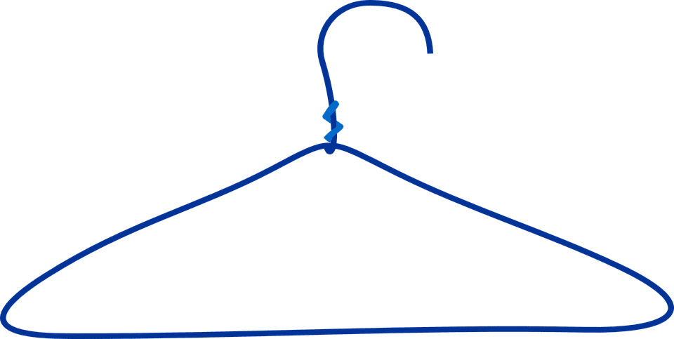 A photo of a wirecoat hanger. | Photo: Pixabay