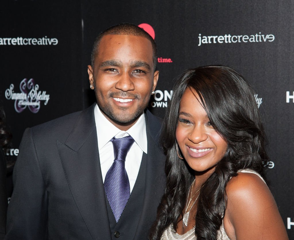 "Bobbi Kristina Brown and Nick Gordon attend ""The Houstons: On Our Own"" Series Premiere Party at Tribeca Grand Hotel on October 22, 2012 