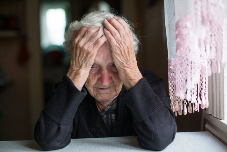 Senior woman in despair. | Source: Shutterstock