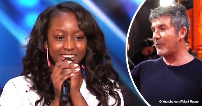 Simon Cowell jumps up to hit golden buzzer after hearing