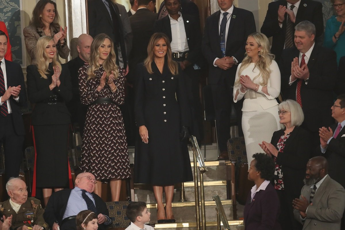 Melania Trump arriving at the 2019 SOTU   Photo: Getty Images