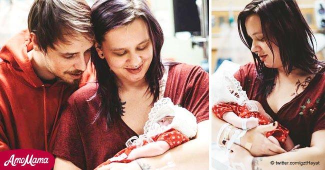 Eine Frau gebärt ein sterbendes Baby, um seine Organe den anderen Kindern zu spenden