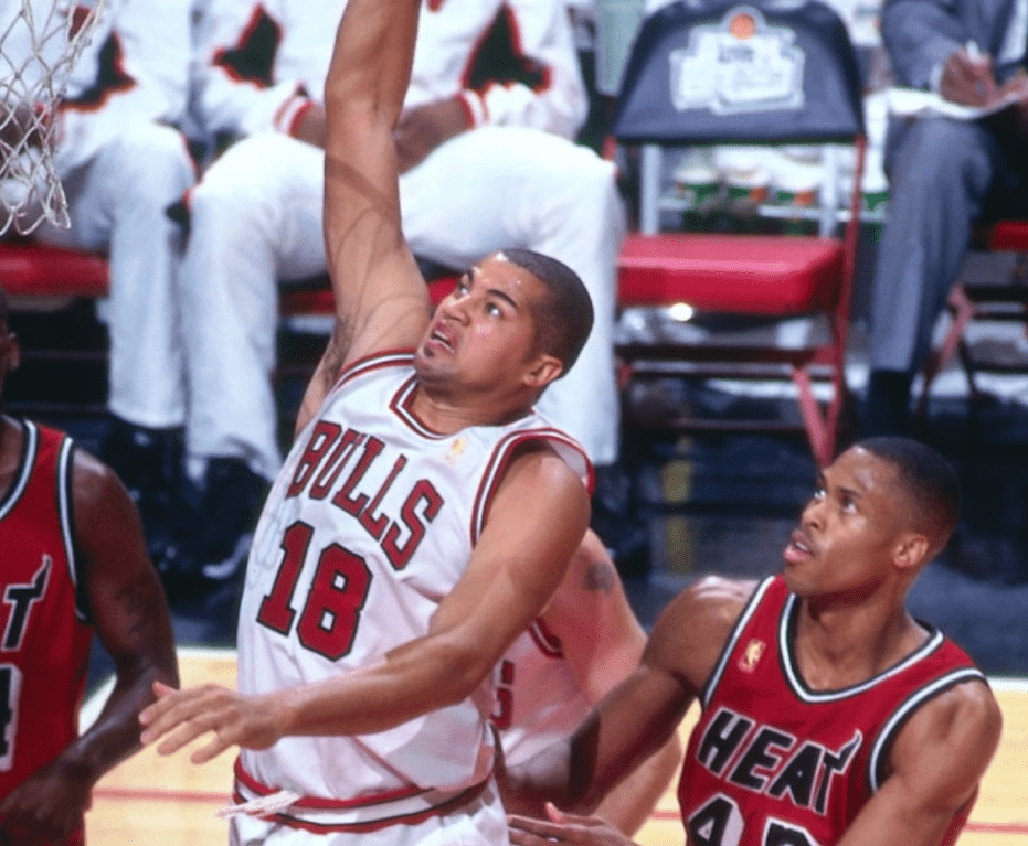 Bison Dele playing for the Chicago Bulls in 1997   Photo: YouTube/NBA Insider
