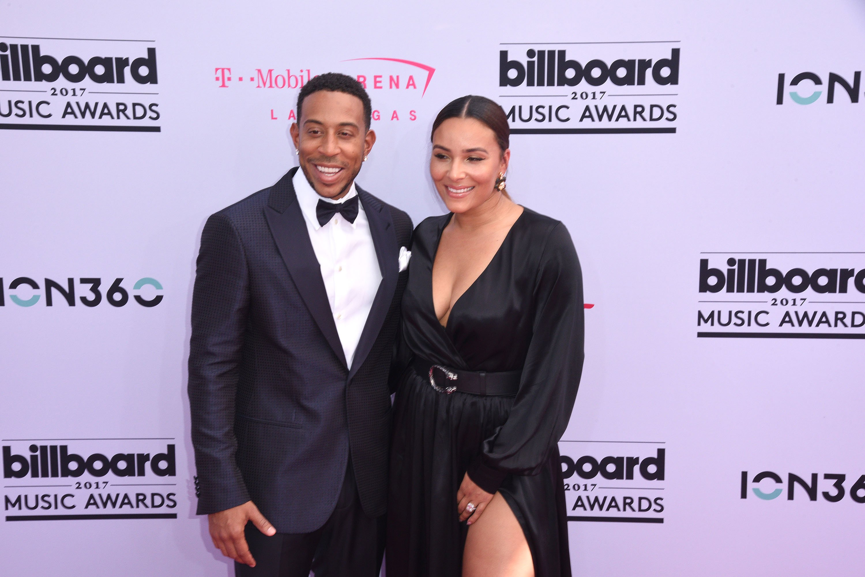 Ludacris and wife Eudoxie Mbouguiengue at the 2017 Billboard Music Awards in Las Vegas   Source: Getty Images