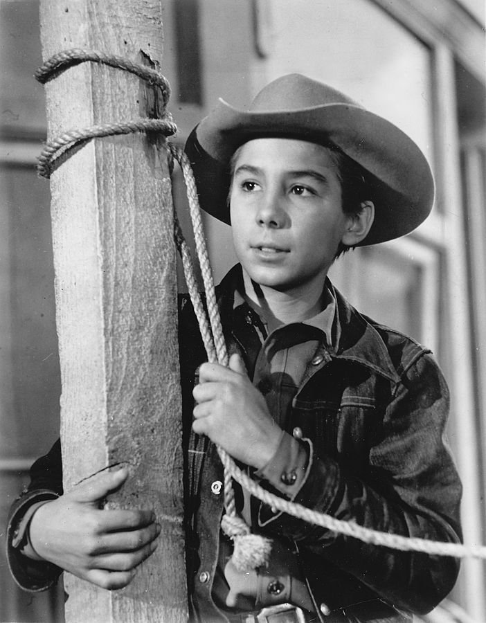 """Johnny Crawford promoting his role on """"The Rifleman"""" 