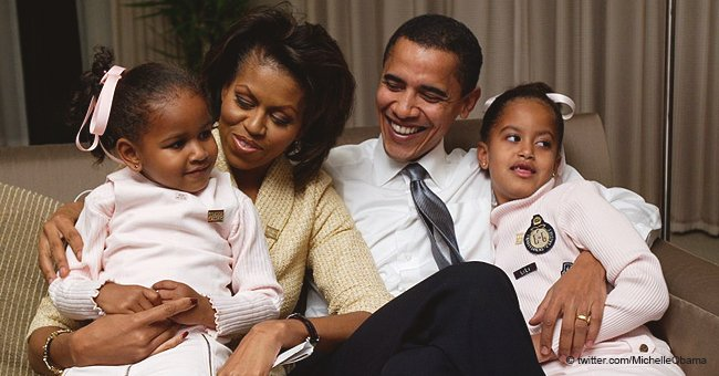 Michelle Obama responded to her husband Barack with a sweet throwback photo on Valentine's day