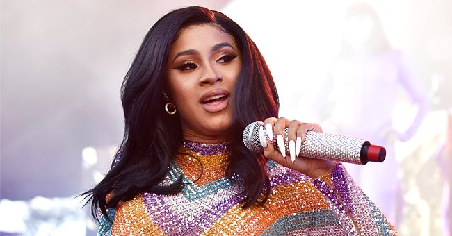 Cardi B Proudly Gushes over Daughter Kulture in Photo Shared from Video Call with Her & Offset
