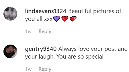 More fan comments on Marie's post | Instagram: @marieosmond