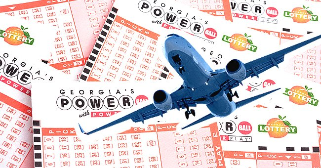 Several lottery tickets with an airplane | Photo: Shutterstock