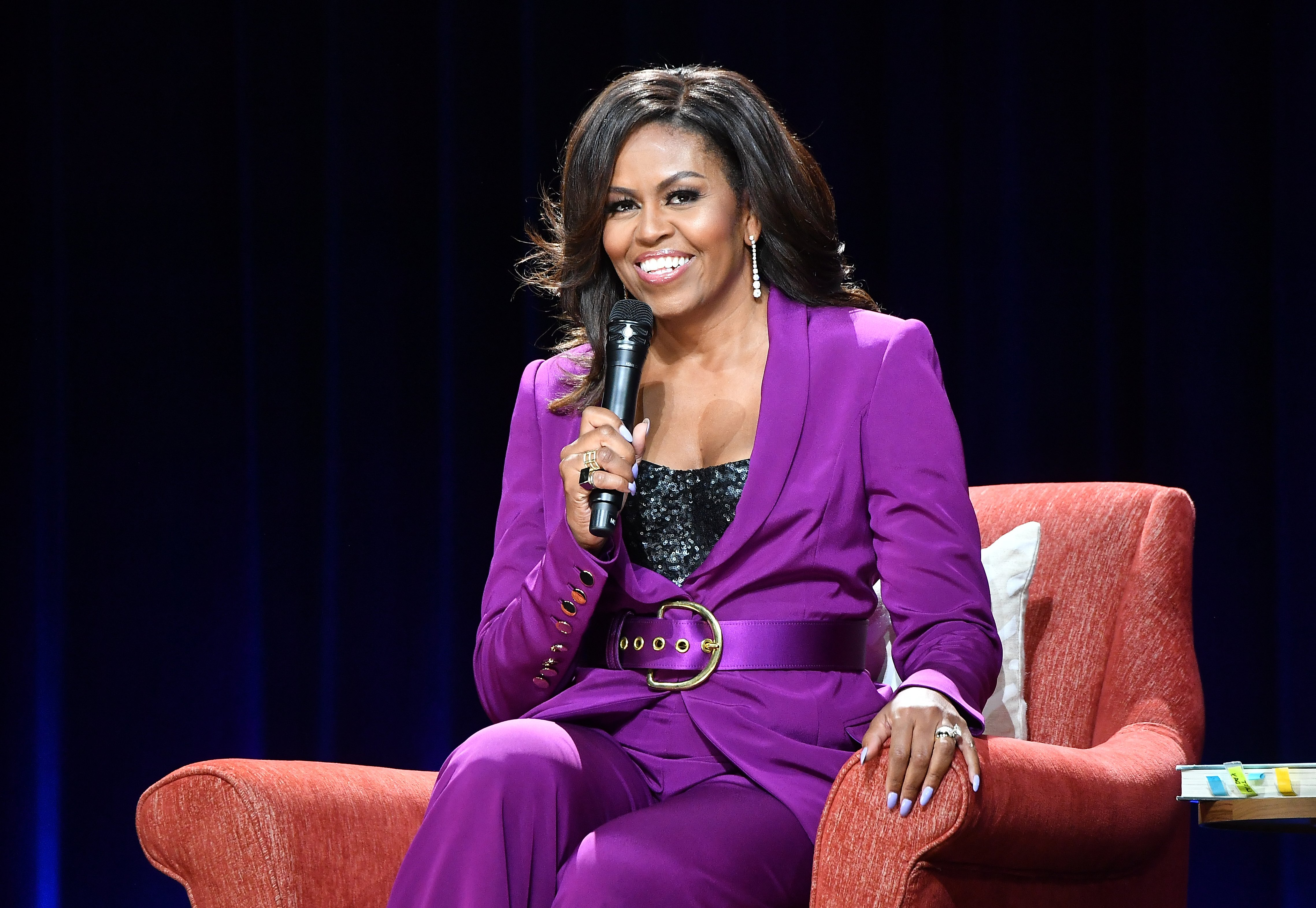 Michelle Obama promoting her book, 'Becoming' at the State Farm Arena in Atlanta in May 2019. | Photo: Getty Images