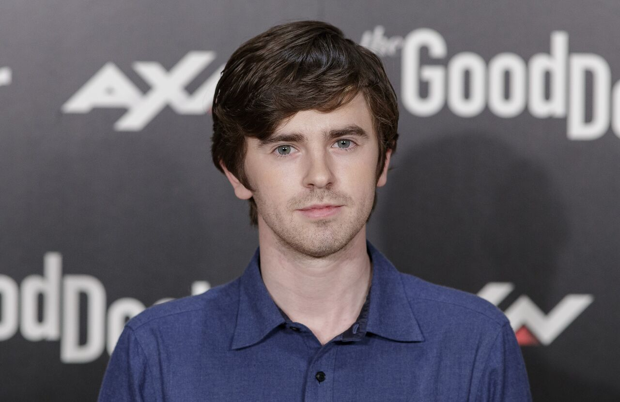 "Freddie Highmore attends the ""The Good Doctor"" photocall at Urso hotel on March 26, 2019 in Madrid, Spain 