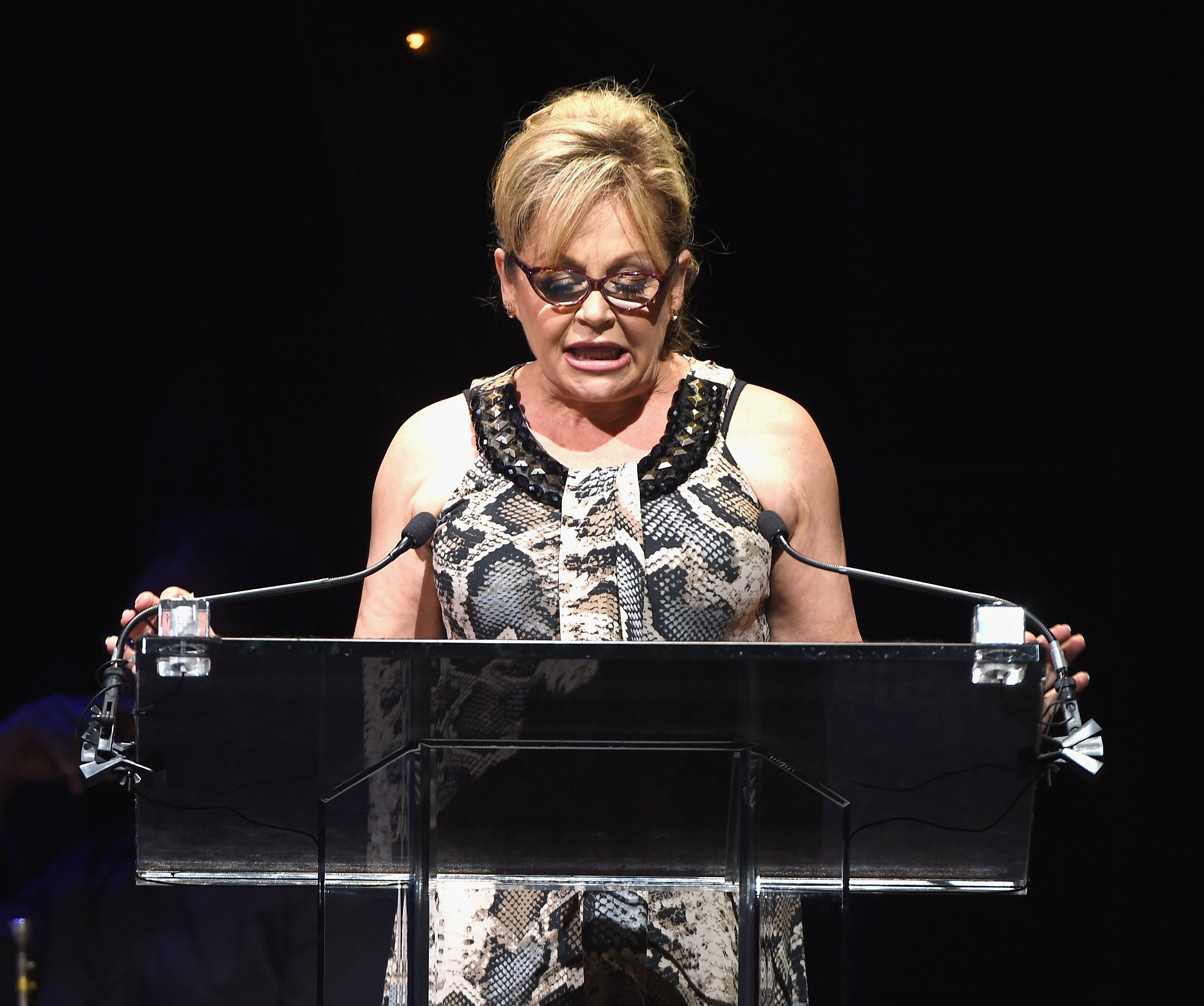 Charlene Tilton speaks onstage during Voices for the Voiceless in New York City on June 29, 2015 | Photo: Getty Images
