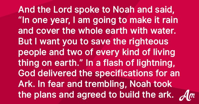 What would happen if Noah built an Ark in modern times