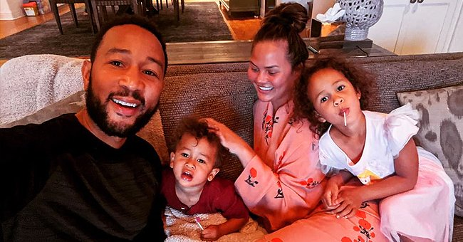 Chrissy Teigen's Daughter Luna Pouts with Bearded Dragon on Her Face in a Cute Snap