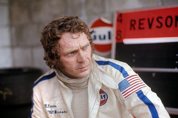 Steve McQueen durante la carrera de resistencia de las 12 horas de Sebring de 1970   Foto: Getty Images