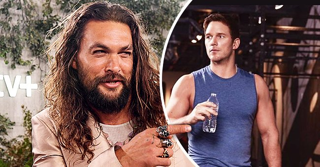 Jason Momoa Objects to Chris Pratt Holding Plastic Water Bottle While Posing for Amazon Ad in Photo
