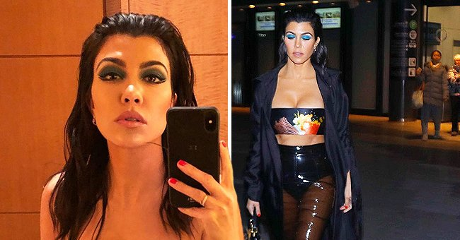 Kourtney Kardashian Impresses Fans with a Stunning Pic Posing in a Crop Top & Transparent Skirt