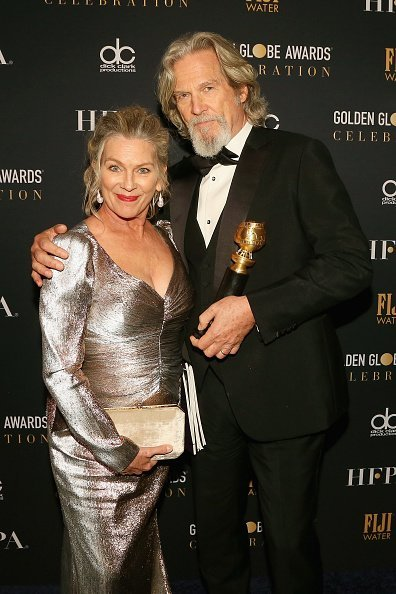 Jeff Bridges and Susan Geston at the 76th Annual Golden Globe Awards Celebration on January 6, 2019 in Los Angeles, California. | Photo: Getty Images