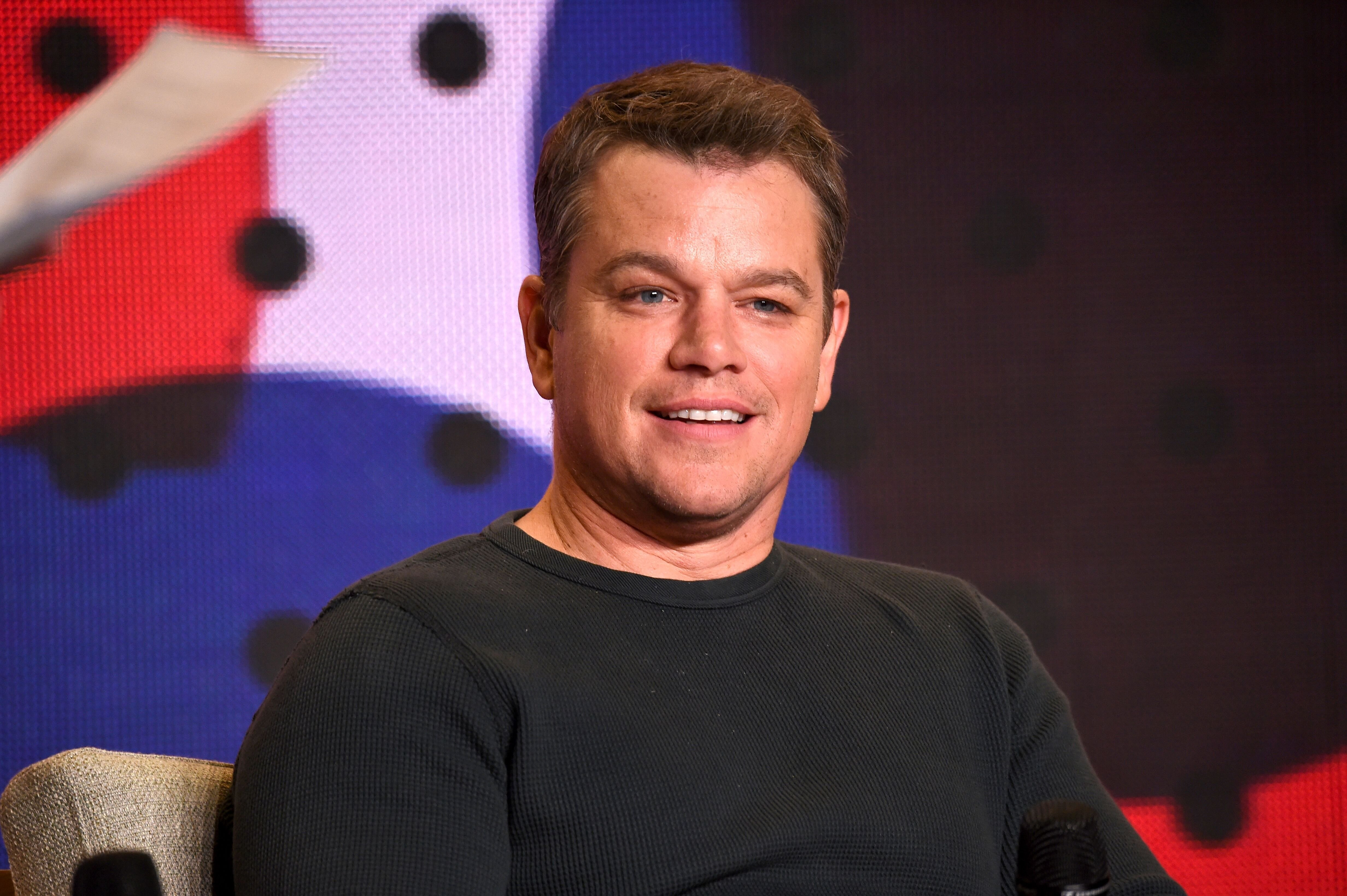 Matt Damon speaks during the 2017 Toronto International Film Festival. | Source: Getty Images