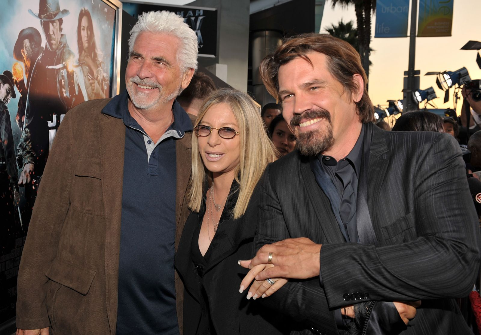 """James Brolin, Barbra Streisand, and Actor Josh Brolin at the """"Jonah Hex"""" Los Angeles premiere on June 17, 2010, in Hollywood, California 