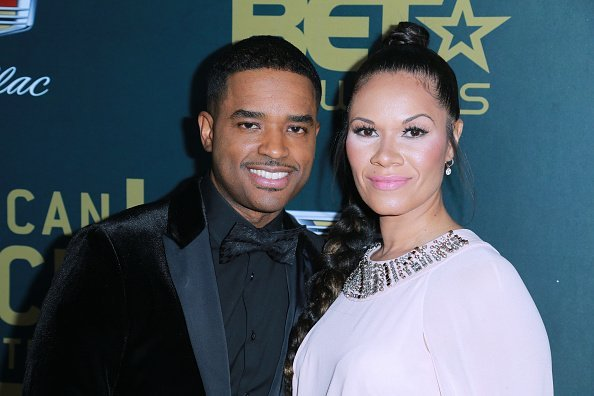 Larenz Tate and wife Tomasina Parrott at the 2018 American Black Film Festival Honors Awards in Beverly Hills, California.   Photo: Getty Images.