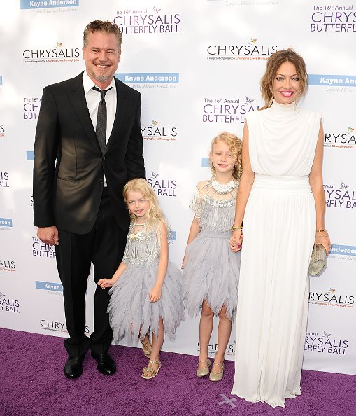 Eric Dane, Rebecca Gayheart and their daughters Billie and Georgia on June 3, 2017 in Brentwood, California. | Photo: Getty Images