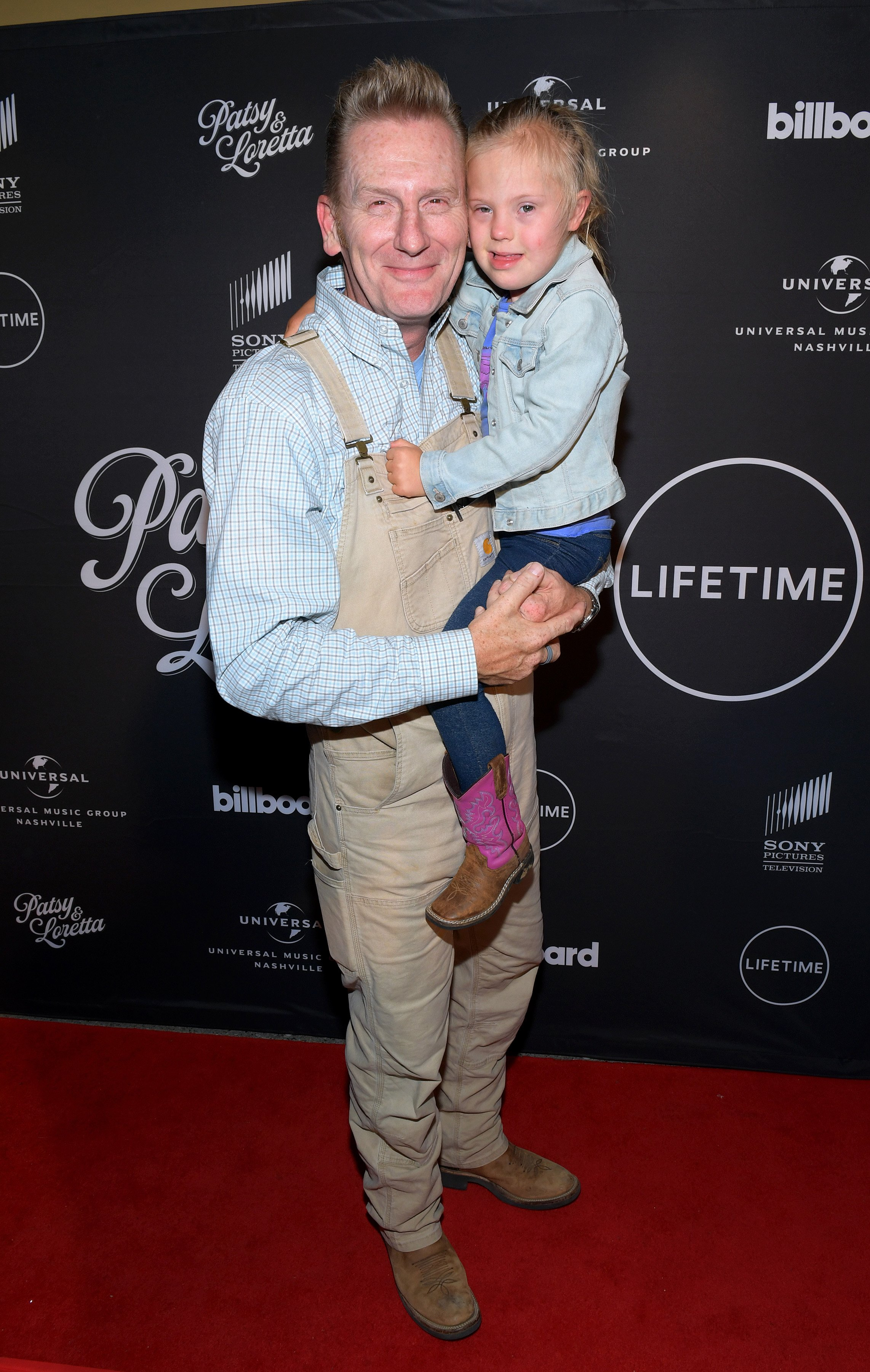 """Rory Feek and daughter Indiana Feek attend a special screening and reception for """"Patsy & Loretta"""" on October 09, 2019 in Franklin, Tennessee. 