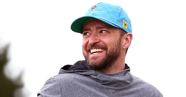Justin Timberlake reacts during Day one of the Alfred Dunhill Links Championship, September 2019   Source: Getty Images