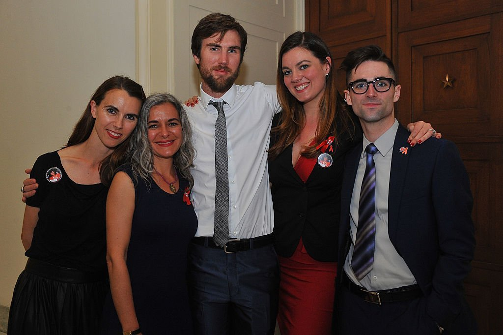 Naomi deLuce Wilding, Tarquin Wilding, Eliza Carson and Quinn Tivey in 2015. I Image: Getty Images.