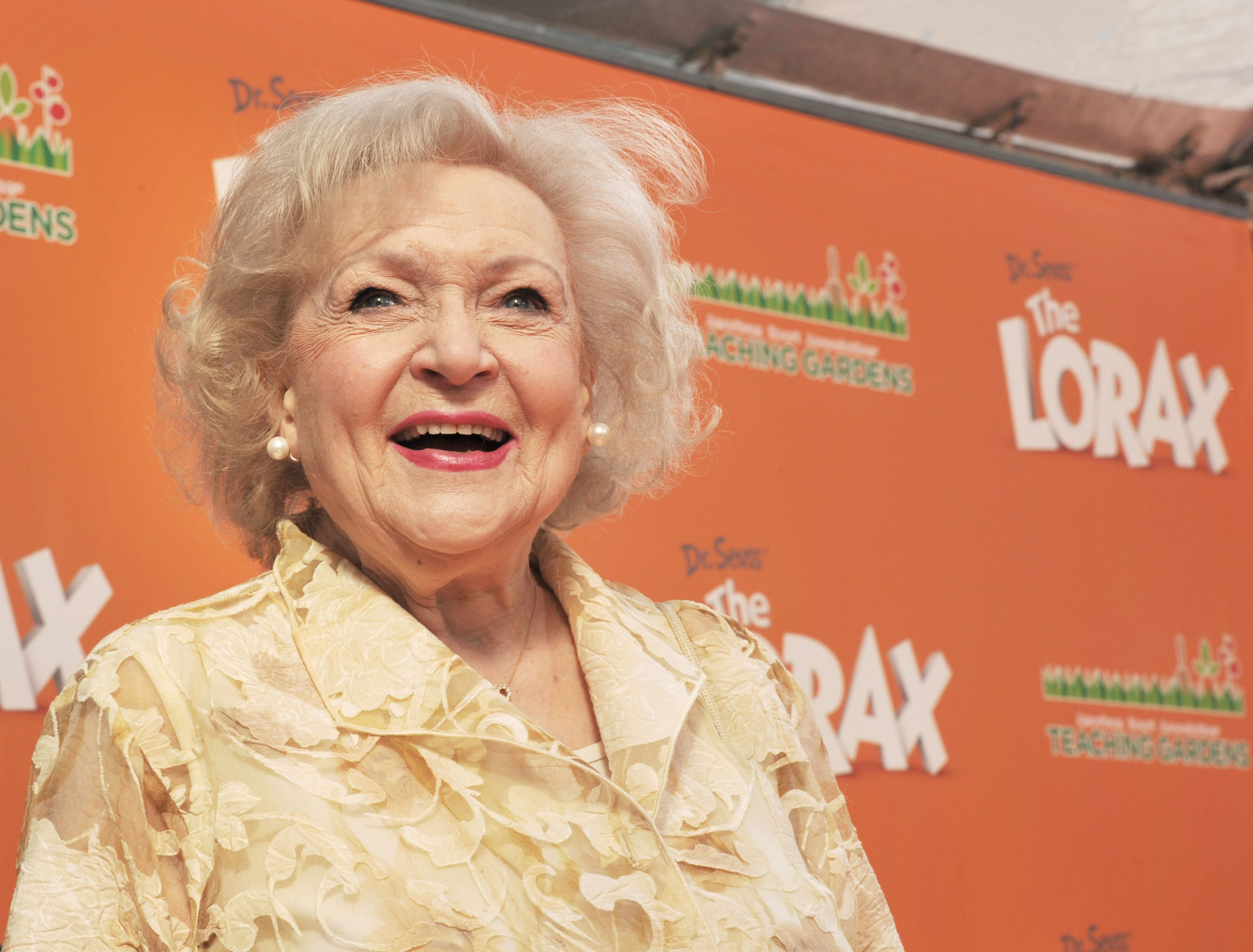 """Betty White at the premiere of Universal Pictures and Illumination Entertainment's 3D-CG """"Dr. Seuss' The Lorax"""" at Citywalk on February 19, 2012 