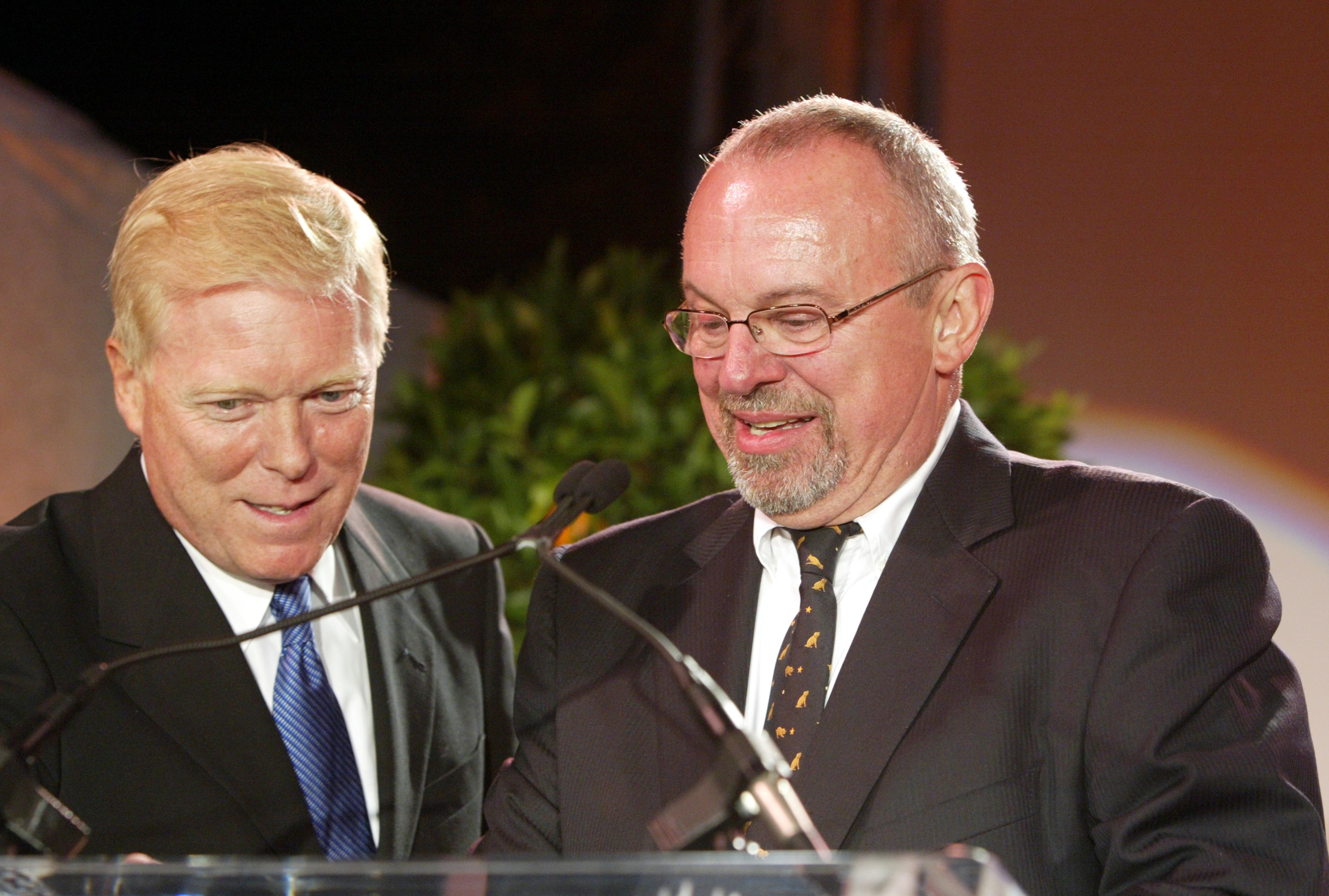 Congressman Richard Gephardt (L) with Blake Byrne on stage at Project Angel Food's 11th Annual Angel Awards Gala held at Project Angel Food Headquarters. Photo: Getty Images/GlobalImagesUkraine