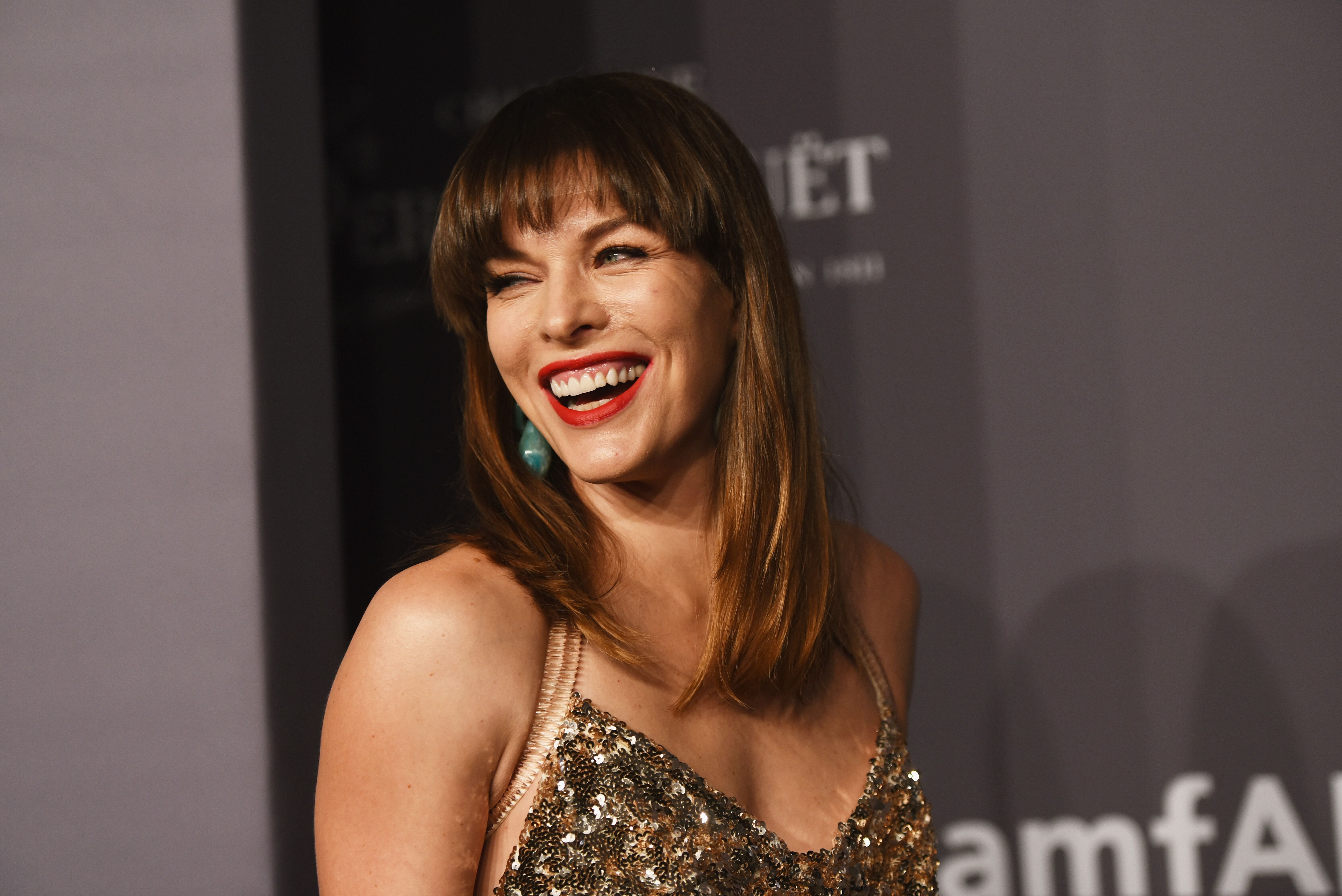 Milla Jovovich attends the amfAR New York Gala 2019 at Cipriani Wall Street in New York City | Photo: Getty Images