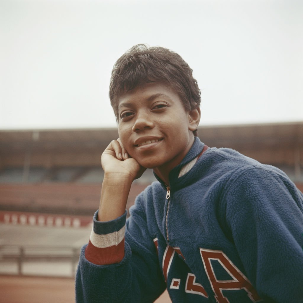 American athlete Wilma Rudolph posing at an athletics track in October 1960   Photo: Getty Images