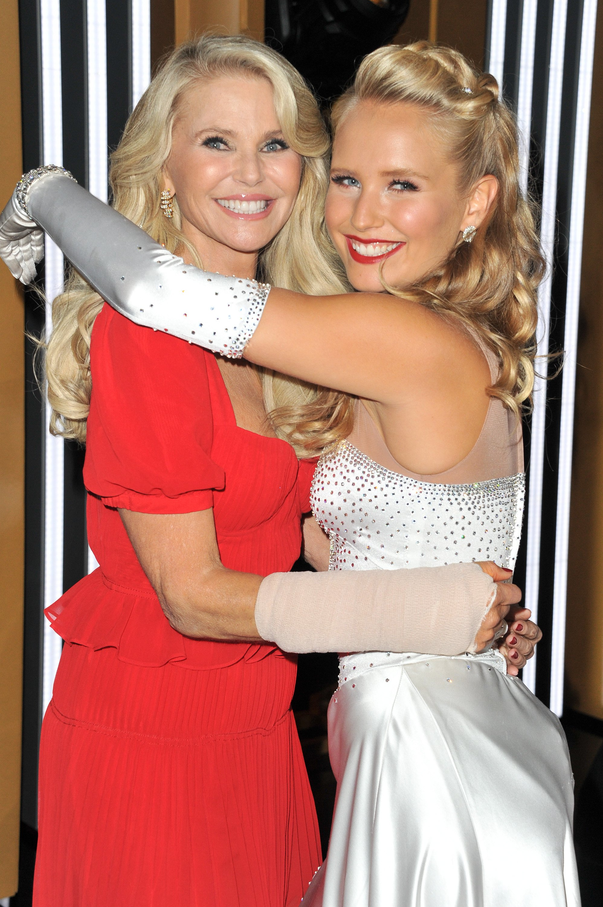 "Christie Brinkley (L) and Sailor Lee Brinkley-Cook attend the ""Dancing With The Stars"" Season 28 show at CBS Television City on September 16, 2019, in Los Angeles, California. 