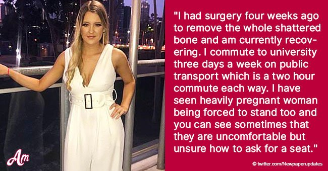 Student Talks About 2-Hour Commute Standing with a Broken Foot as Passengers Ignore Her Crutches
