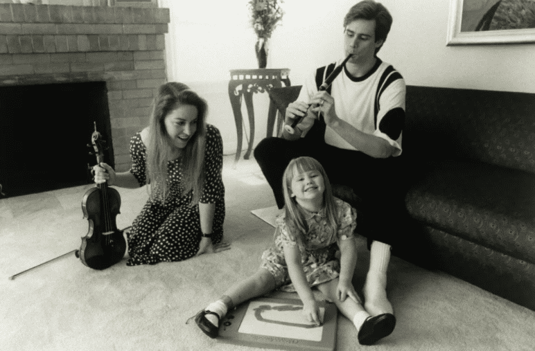 Jim Carrey, Melissa Womer and their daughter, Jane Carrey, in 1991 | Photo: Getty Images