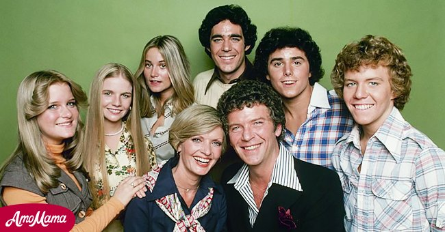 """""""The Brady Bunch"""" cast including Florence Henderson and her on-screen children 