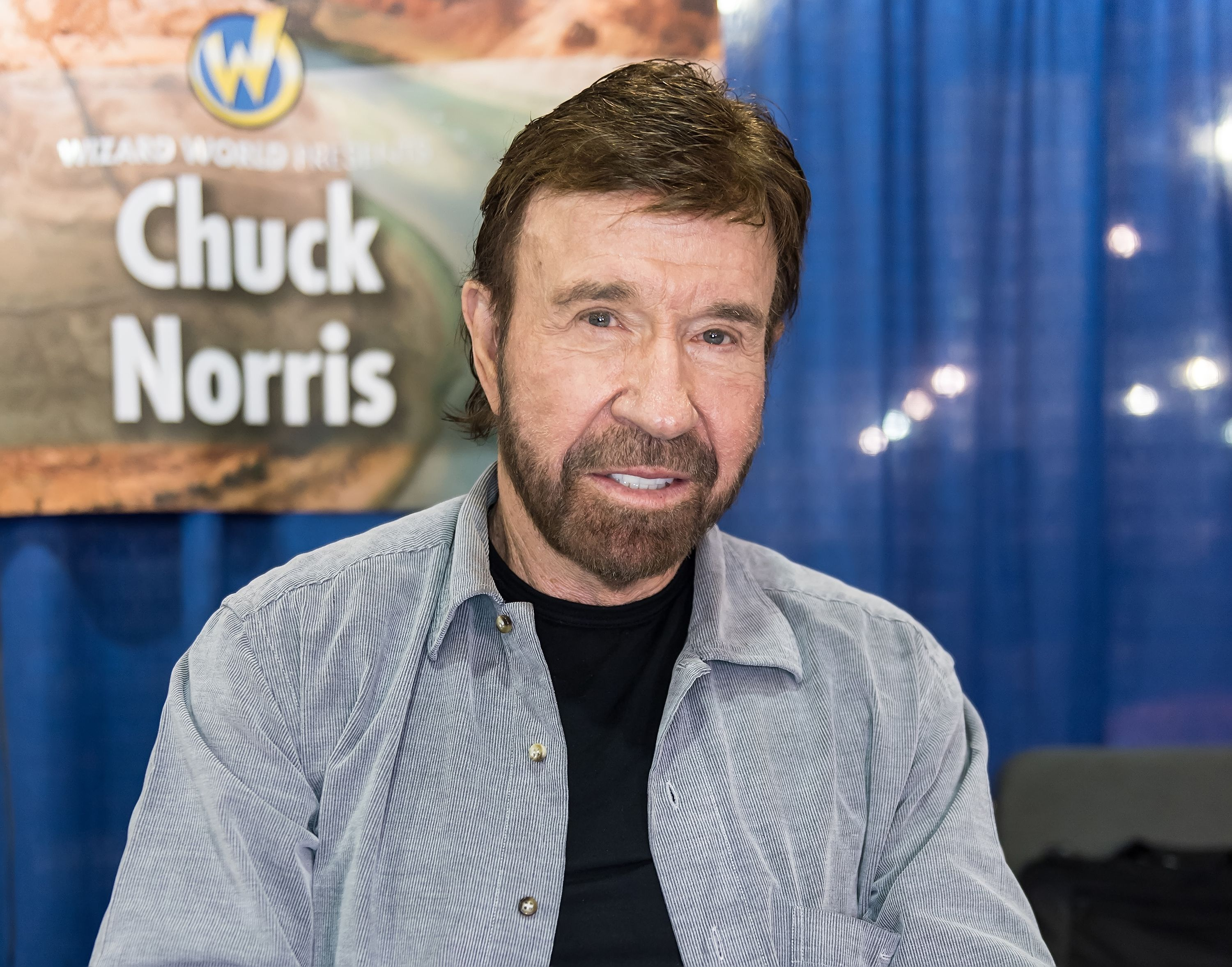 Chuck Norris make his Wizard World Comic Con debut during Wizard World Comic Con Philadelphia 2017 - Day 3 at Pennsylvania Convention Center on June 3, 2017 in Philadelphia, Pennsylvania. | Source: Getty Images