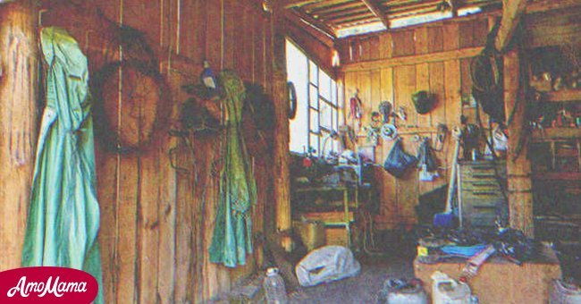A stranger in the shed | Source: Shutterstock